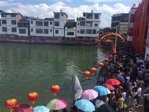 杨村池塘赛龙舟,30年前与今天对比照!