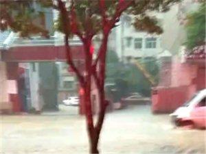 麻江大暴雨广建三联被淹了