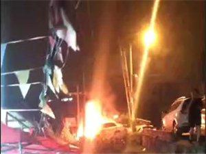 麻江夜市城轿车自燃