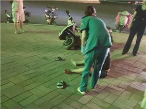 一男子酒后骑车摔伤
