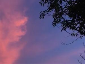 多久�]有看�^�@么漂亮的晚霞了?