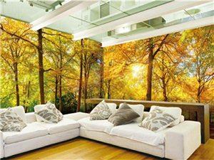 若木全屋整装墙板现推出全屋整装定制,可把自己喜欢的山水风景画制作成墙板,让你仿佛置身于大自然中,材料