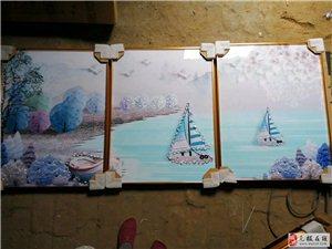晶瓷客厅三联画