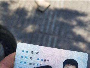 步行街一商店附近捡到(陈真)身份证请速与我联系