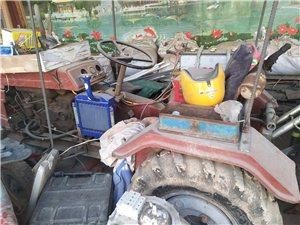 四輪拖拉機,帶播種機
