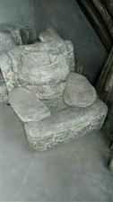 两个大沙发500元