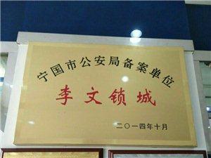 宁国李文锁城 全国连锁 公安备案