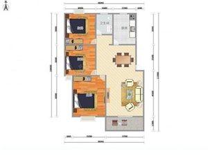 雨华鑫苑雨花石文化园3室1厅1卫68万元