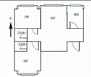 台北花园2室2厅2卫455万元