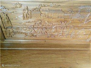 红木家具罗汉床1.2宽,含炕几,踏几