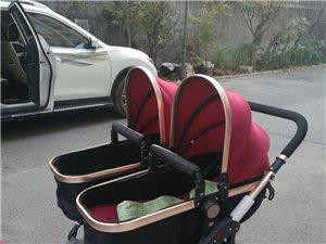 双胞胎婴儿车,可坐可卧,七个减震弹簧,免...