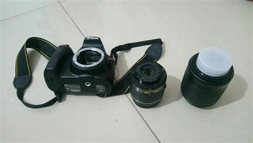 出售尼康单反一个d3400带镜头2个,绝...