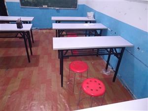 二手桌椅双人辅导桌,可折叠学习桌120cm*40cm 99成新,基本没用过,因自家两孩子太小需要照...