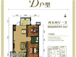 锦绣天城3室2厅2卫103万元