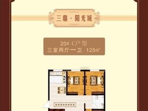 三鼎阳光城3室2厅1卫65万元