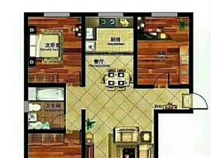 有钥匙??毛坯蓝波圣景3室2厅1卫104万元