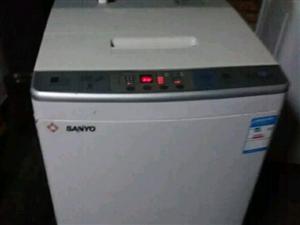 三洋7.0公斤洗衣机9.9成新还没拆保护膜
