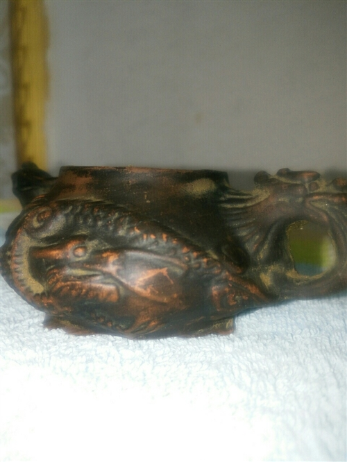家传茶壶,龙头凤尾。