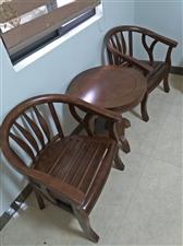 木椅茶几三件套,换购、出让都可以!