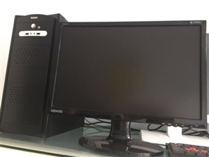 二手双核办公电脑主机加19寸显示器 特价400元  共四套