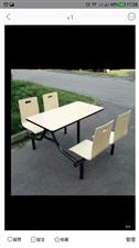 桌椅六套,连体的,有需要的联系我