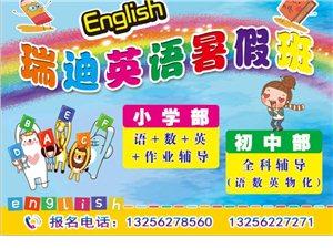 瑞迪英语全科暑假班开始招生了