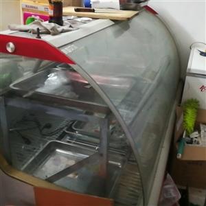 超市饭店用保险肉柜,九成新