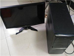 二手办公电脑22寸主机全套499元另有22/24/27寸显示器成色完美要的联系我,22寸显示器230...
