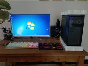 9成新。家用办公 工作室 游戏电脑长城32寸显示器工作室主机 四核 8g全新内存条 GTX750游戏...