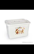[转卖]250L有轮特大号加厚塑料整理箱带盖棉被收纳箱衣… 颜色分类:乳白色,规格:250L 8...
