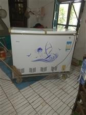 转让九成新海尔冰柜+手推车,买了用了半年