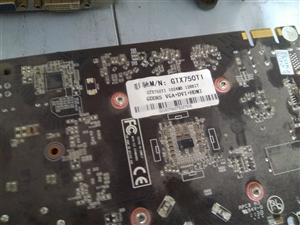 临泉低价出售二手拆机750ti  1g  d5显卡10个   价格便宜