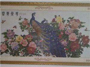 富贵荣华十字绣成品出售,规格长210,宽105,电话13584619507。