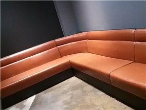 重庆崇州茶楼卡座沙发厂,餐厅椅子定做咖啡厅