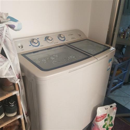转让一台洗衣机,半自动的,牌子是美的,便宜处理了,容量超大,耗能低,用了一年多,功能外观良好,要的联...
