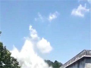 三胡水厂管子又爆了