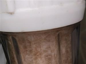 潢川的自来水水质堪忧啊8月2号才换的虑芯今天发现成了这个颜色,以前一年都没有这么脏,这才几天啊,早
