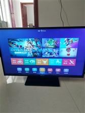 出售二手八九成新原装网络电视平板电视自取43寸海信牌子