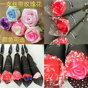 纯手工丝带玫瑰花