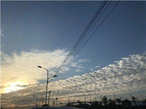 一早的空气很好,风景不错