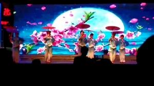桦西湖广场演出,唱的可好听了。