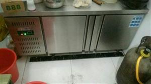 便宜处理用了一个月的操作台冰柜,