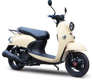 小龟王摩托车125CC踏板车燃油 米色  购买几天 所有手续齐全 爽快的送u锁