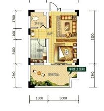 丹霞溪谷国际休闲度假区1室 0厅 1卫养生避暑