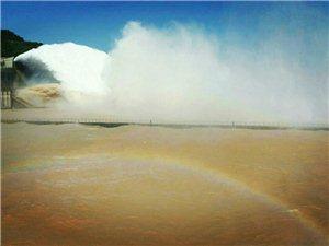 国庆小浪底排水排沙素描