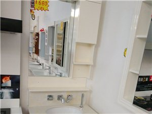 实拍浴室柜,子弹头灯具来一波,会员购买更优惠