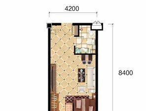 明珠花园1室 1厅 1卫25万元