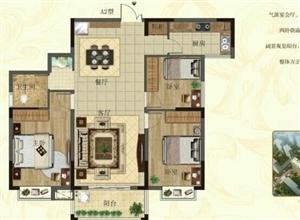 高档小区,精品三房可按揭,金地名都3室2厅2卫84万元