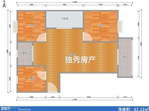 鸿润・龙腾首府3室2厅1卫85万元