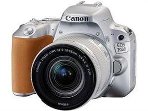 处理闲置9成新相机,佳能EOS 200D 银色单反相机 原价4300元 ?#36763;?#20010;镜头(EF-S 18...